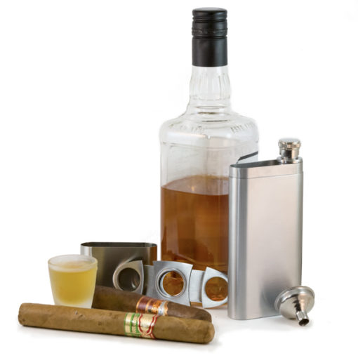 Perfect Pregame Cigar Flask Gift Set
