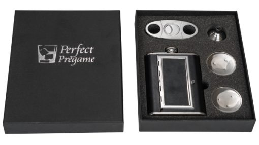 Perfect Pregame Cigarette Flask Gift Set Both