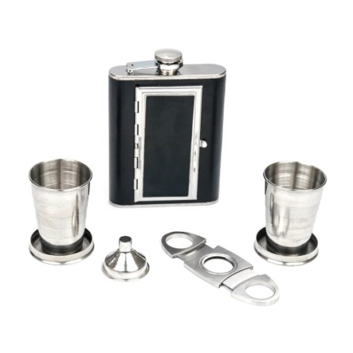 Perfect Pregame Cigarette Flask Gift Set