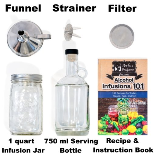 Perfect Pregame Alcohol Infusion Kit Items