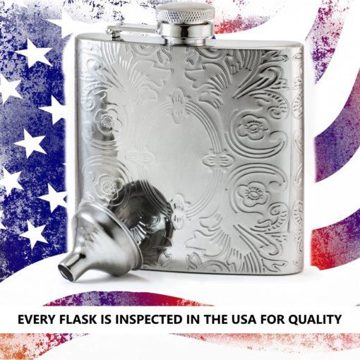 Perfect Pregame Mirror Flask USA