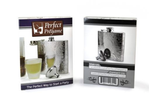 Perfect Pregame Pattern Flask Gift Box